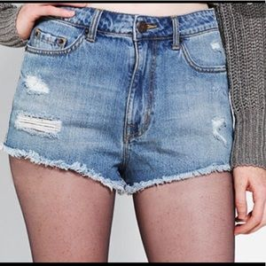 BDG Hi Rise Cheeky Denim Cut Offs